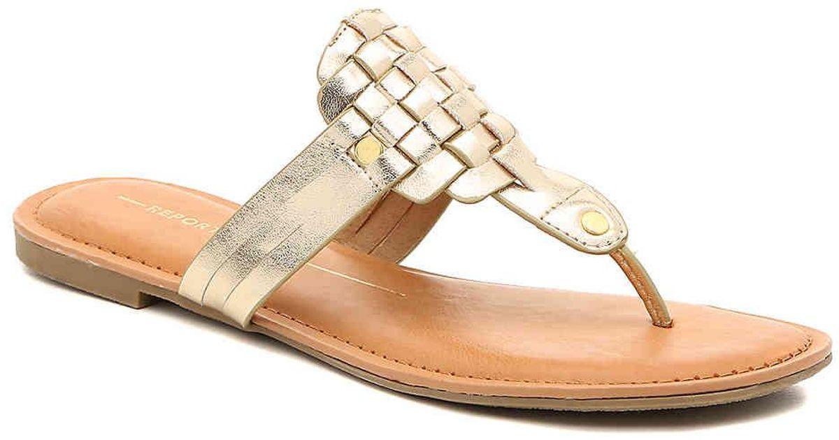 Report Ginger Sandal in Gold Metallic