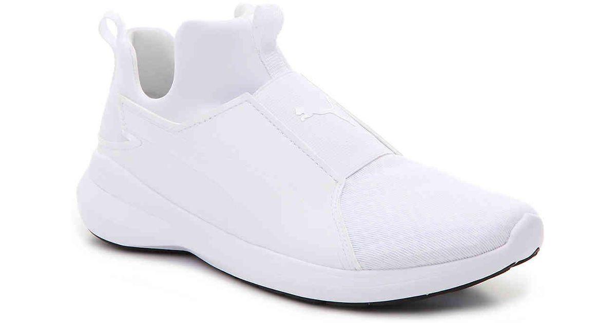 91b328c3 PUMA White Rebel Mid Slip-on Training Shoe