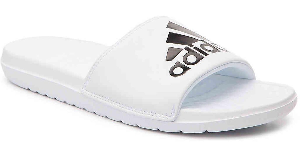 cheap for discount 7f8b0 97910 Lyst - adidas Voloomix Slide Sandal in White for Men