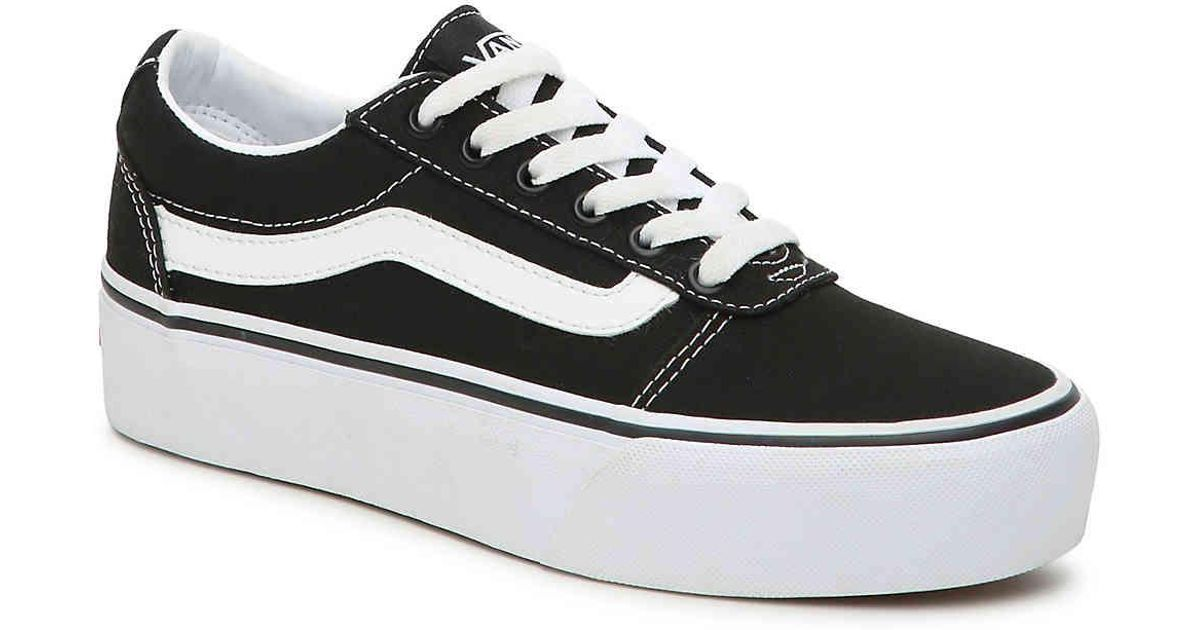vans ward platform canvas sneakers