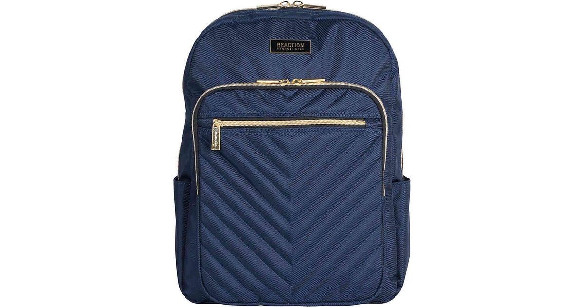 Lyst - Kenneth Cole Reaction Chevron Computer Backpack in Blue for Men 539e805ea27bb