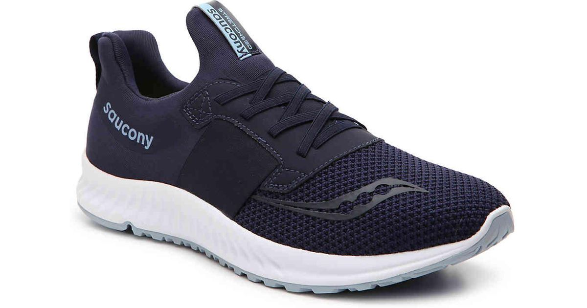 ee2850e463 Saucony Blue Stretch & Go Breeze Lightweight Slip-on Running Shoe for men