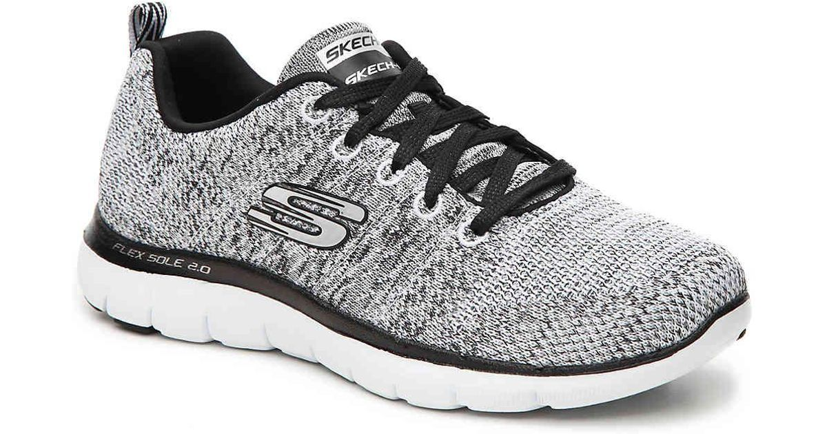 1e71942c99ab Lyst - Skechers Flex Appeal 2.0 High Energy Women Round Toe Synthetic Gray  Sneakers in Gray