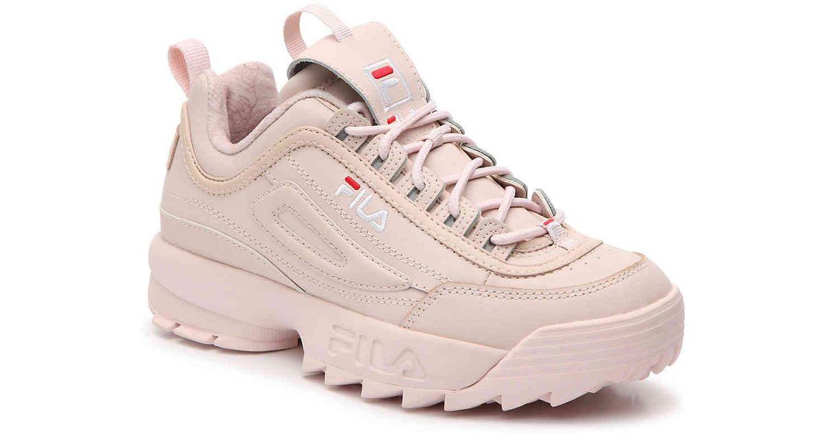 coupon codes latest releases 50% price Fila Pink Disruptor Platform Sneaker