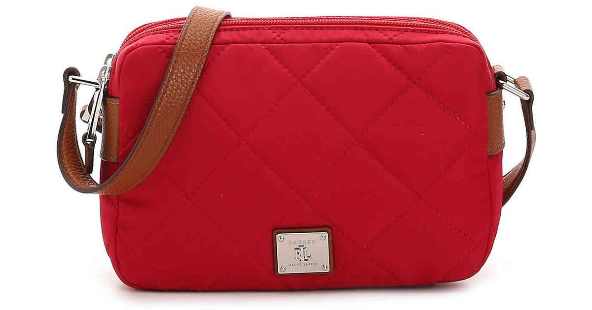 Lyst - Lauren by Ralph Lauren Stockwell Crossbody Bag in Red 1e9b959761