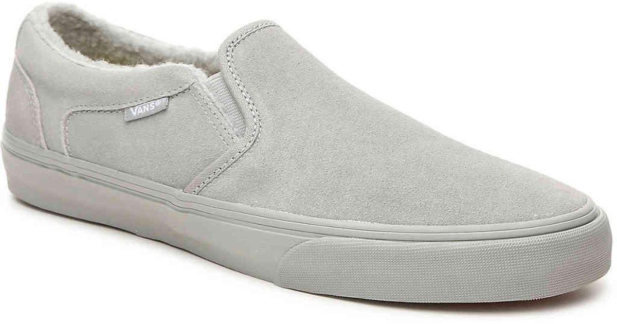 Vans Suede Asher Deluxe Slip-on Sneaker