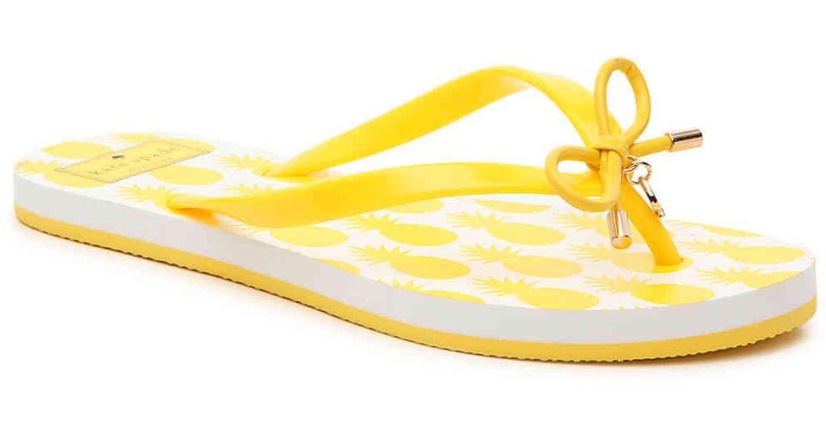 Yellow Pineapple Nova Flip Flops
