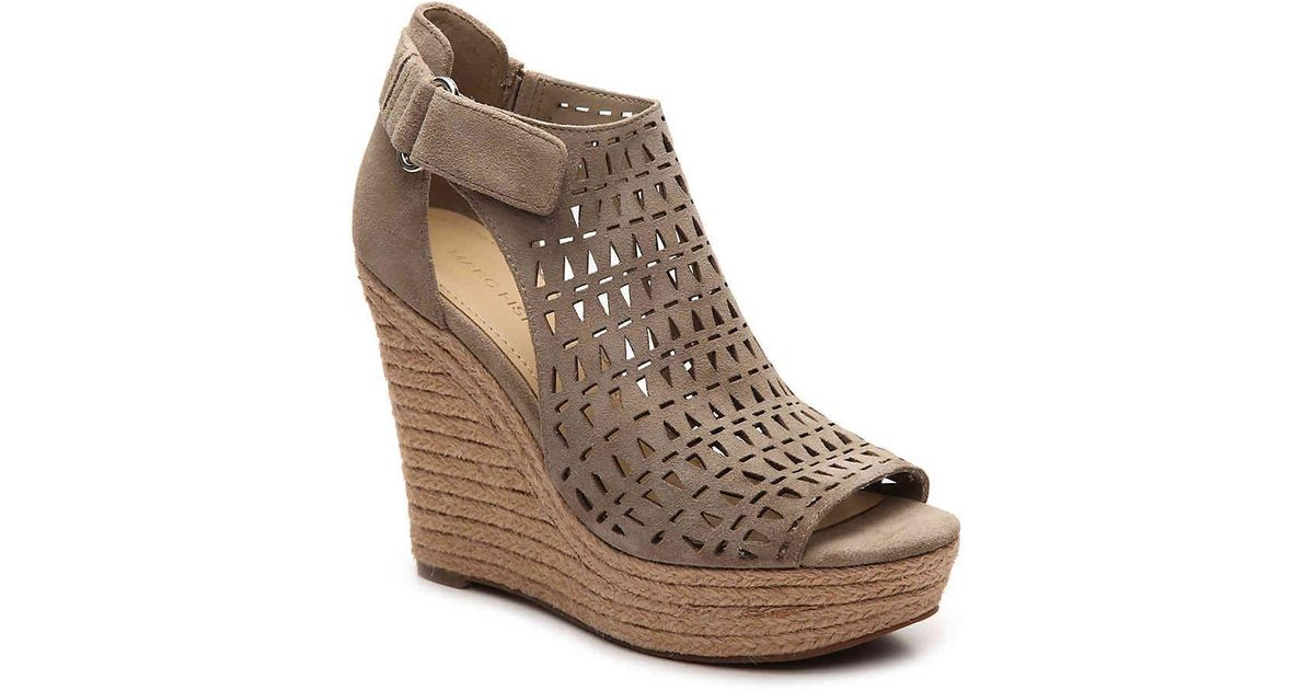 d61975b805c Lyst - Marc Fisher Helina Wedge Sandal in Brown