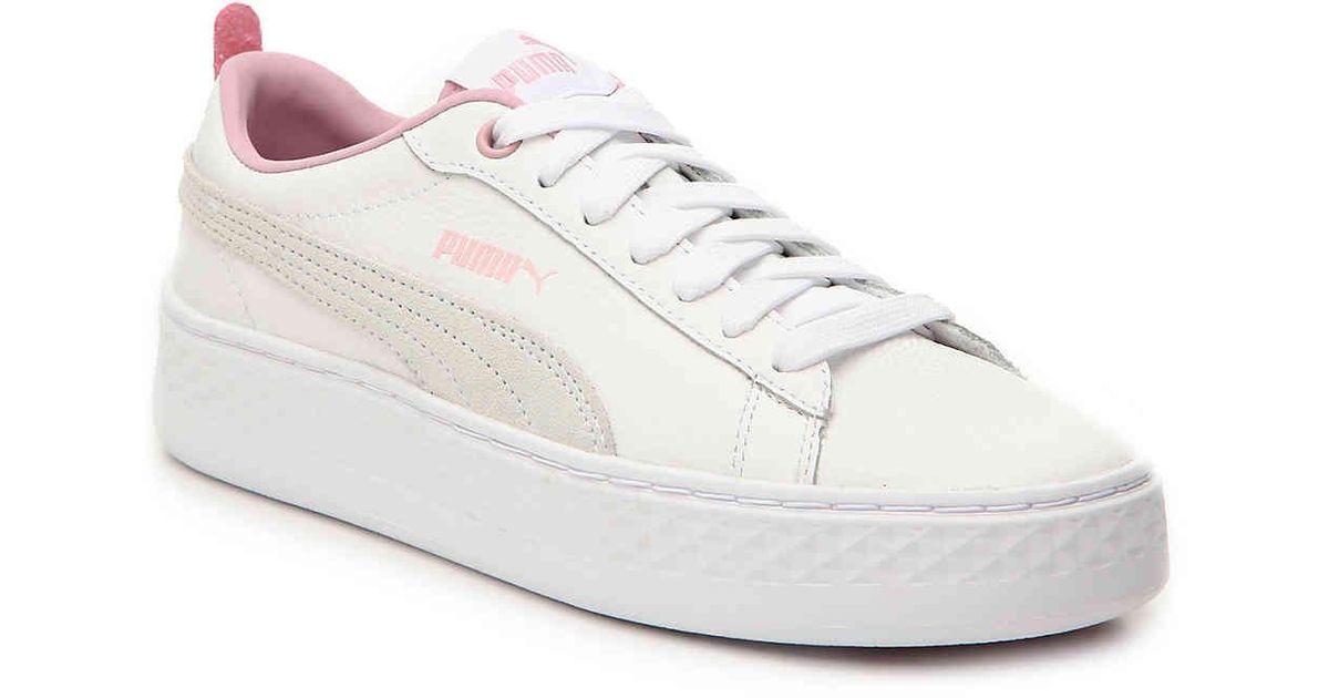 puma smash platform sd pink