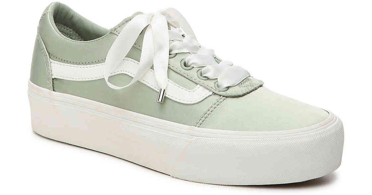 b93b63de55f Lyst - Vans Ward Platform Sneaker in Green