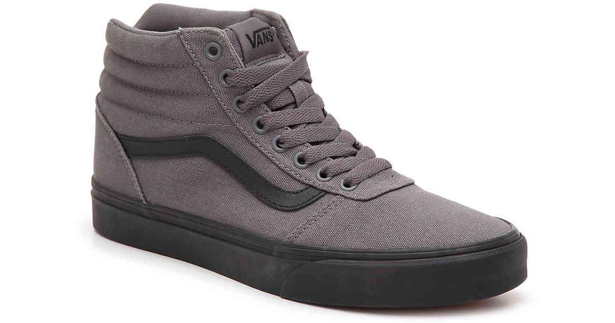 grey vans high tops mens