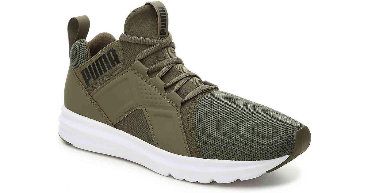 Enzo Sneaker in Olive Green