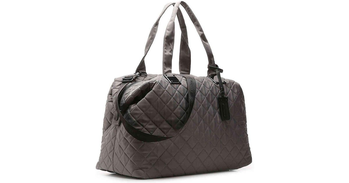 0120cf6693d9 Lyst - Steve Madden Quilted Weekender Bag in Gray