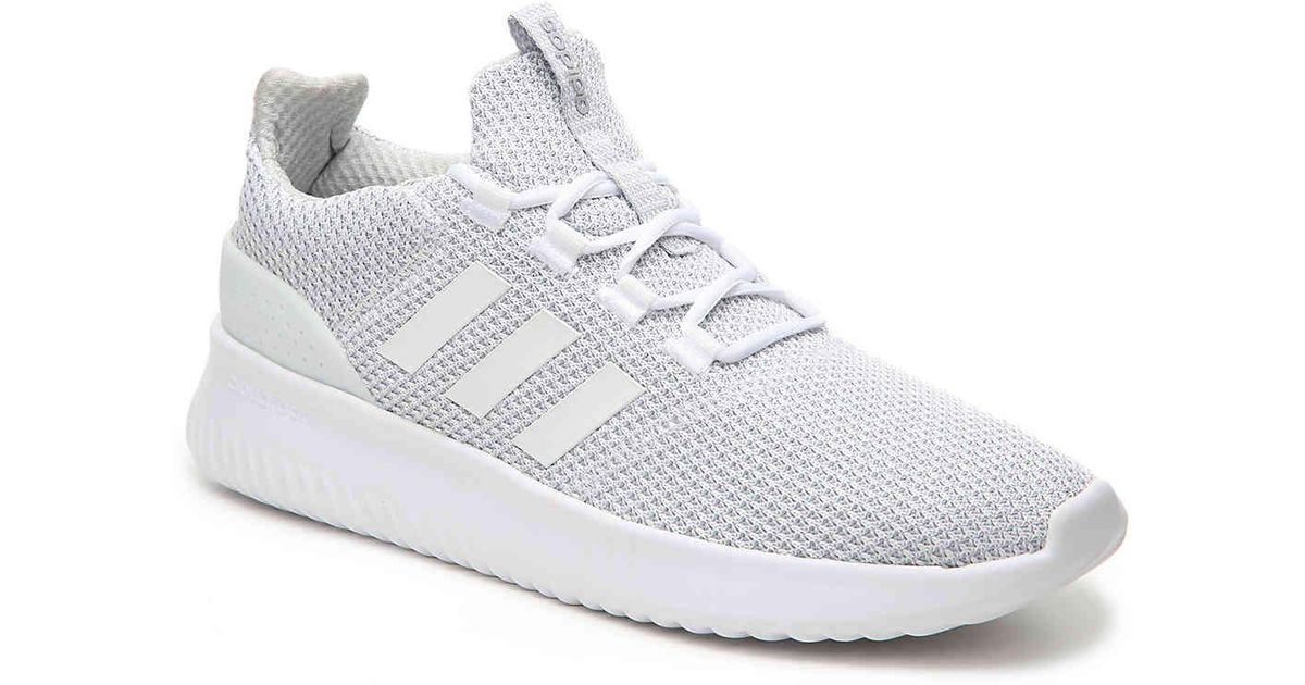 Adidas White Cloudfoam Ultimate Sneaker for men