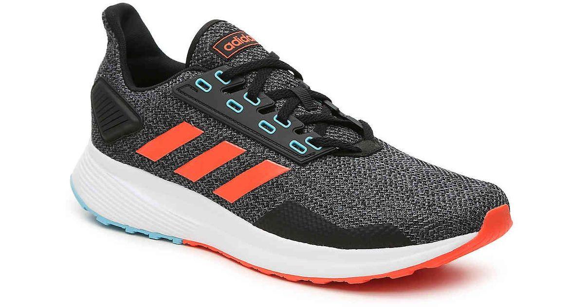 Adidas Black Duramo 9 Lightweight Running Shoe for men