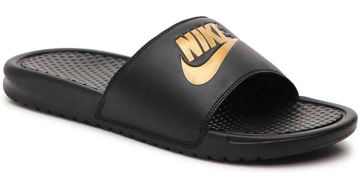 best service 82764 96efa Nike Black Benassi Just Do It Slide Sandal for men