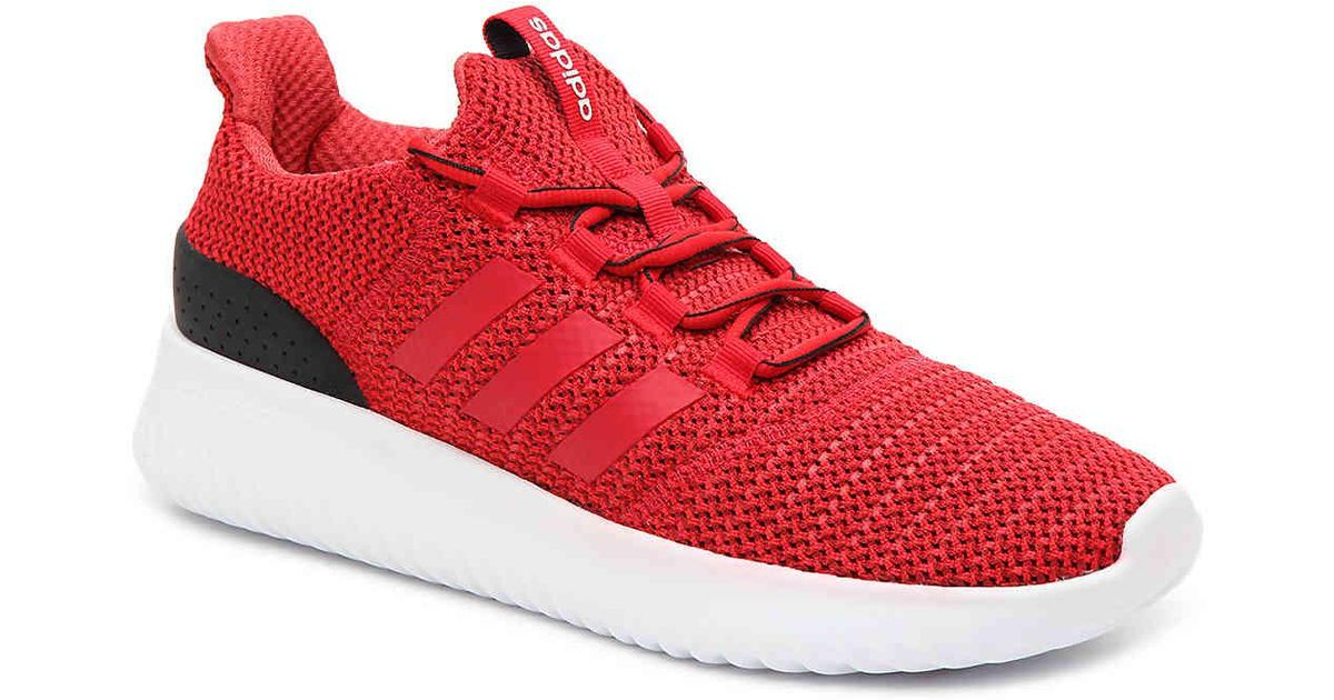 Adidas Red Cloudfoam Ultimate Sneaker for men