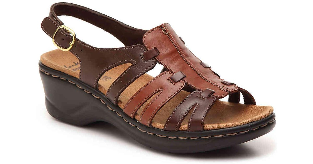 f185d4d6cf86 Lyst - Clarks Lexi Marigold Wedge Sandal in Brown