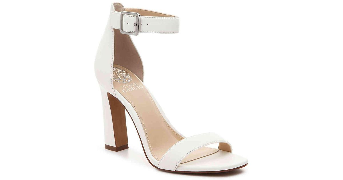 Vince Camuto Acelyn Sandal In White Leather White Lyst