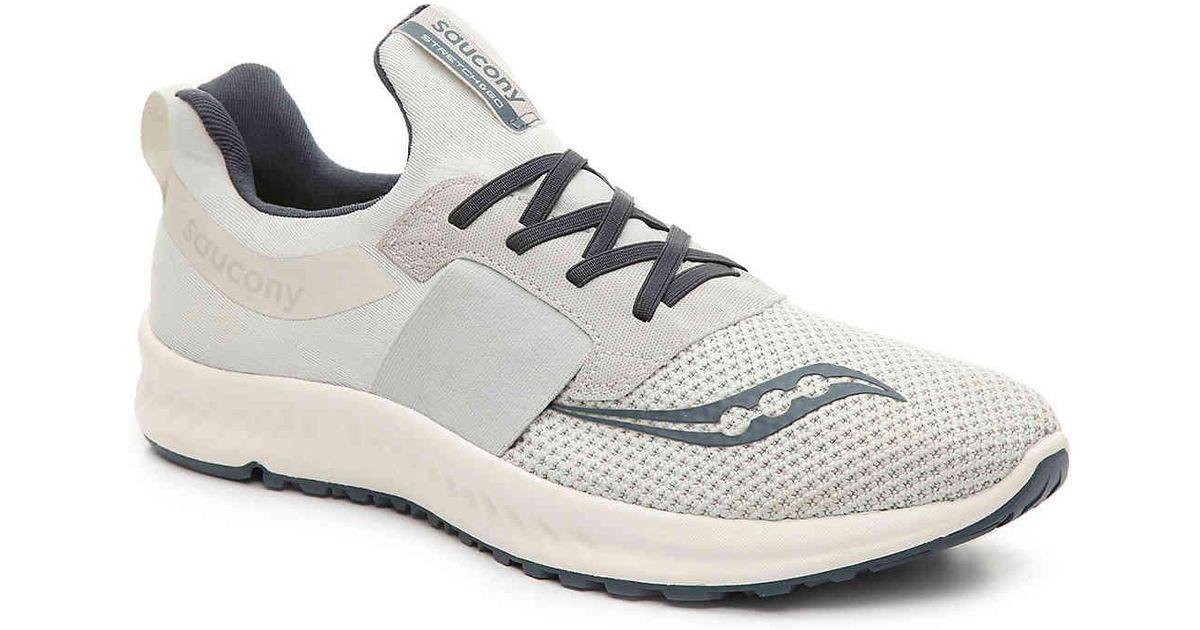 5c2b86bc55519 Saucony Blue Stretch & Go Breeze Lightweight Slip-on Running Shoe for men