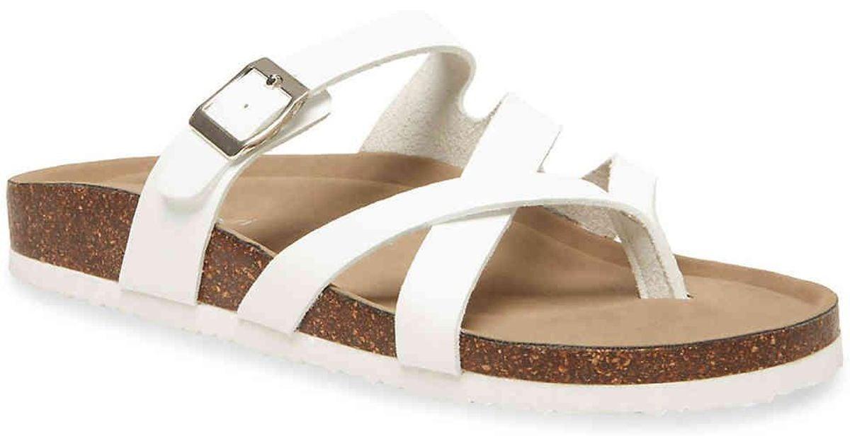 Madden Girl Bartlet Sandal in White - Lyst