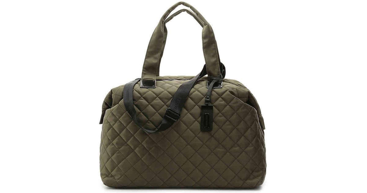 77f765fc78c6 Lyst - Steve Madden Quilted Weekender Bag in Green
