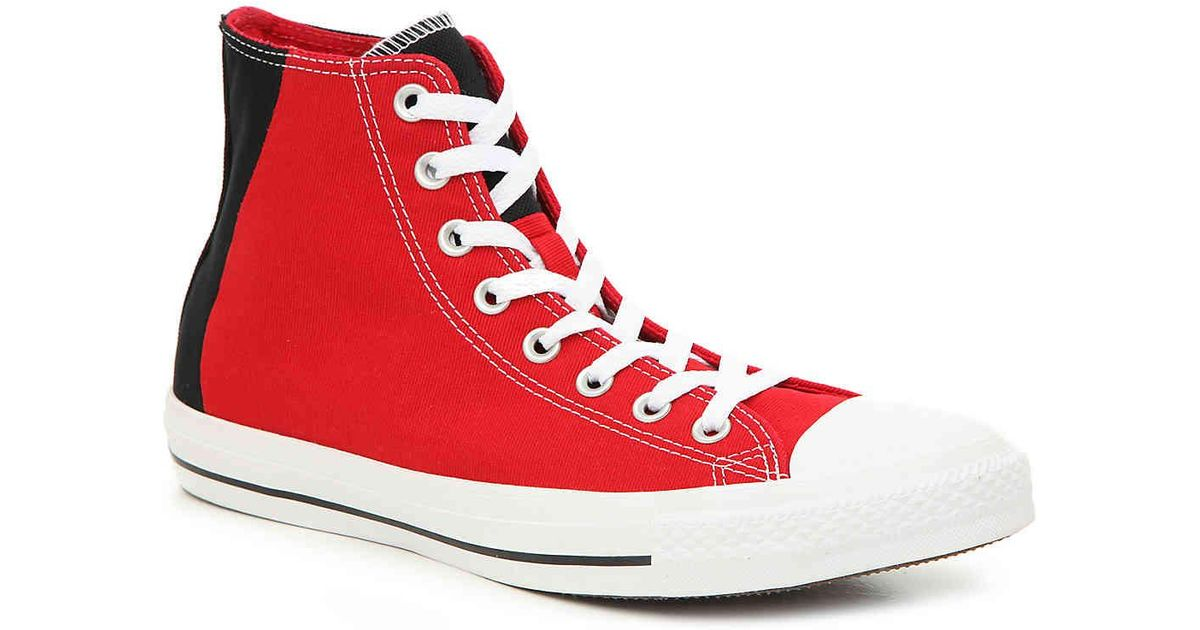 05bf95b056db8f Lyst - Converse Chuck Taylor All Star 2 Tone High-top Sneaker in Red for Men