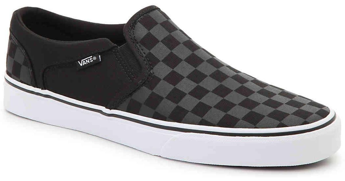 Vans Canvas Asher Checkered Slip-on