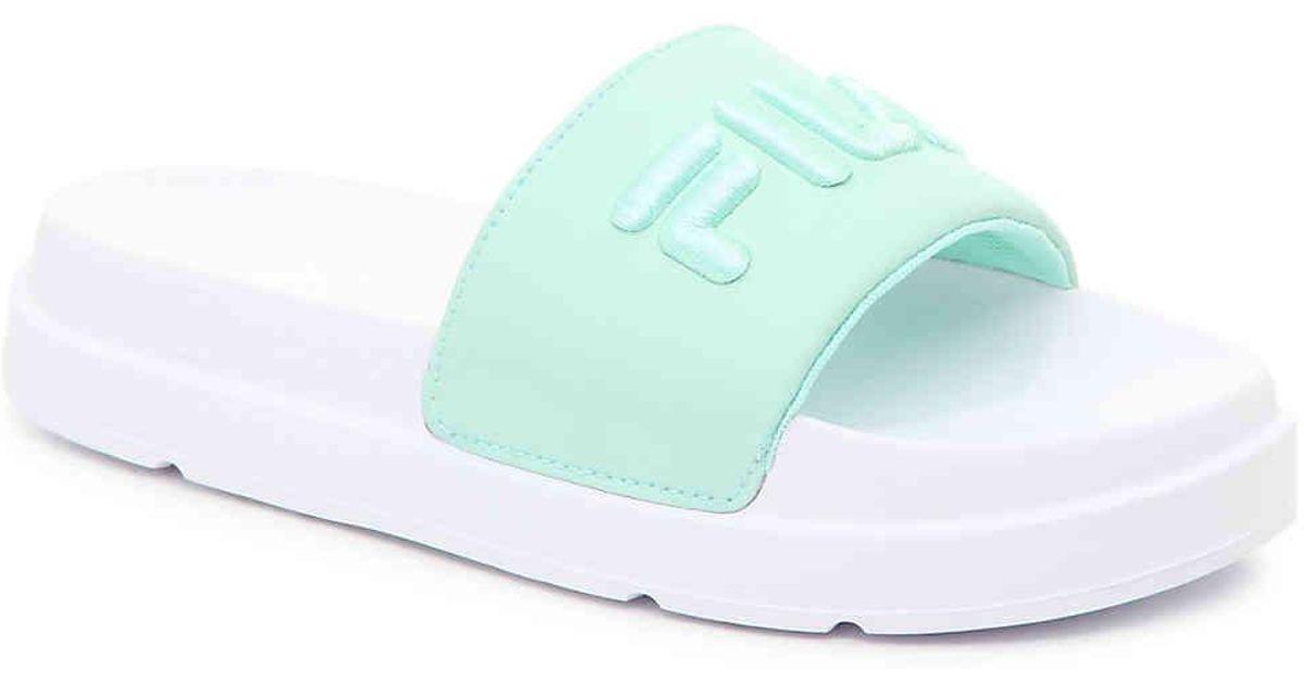 Drifter Slide Sandal in Mint Green