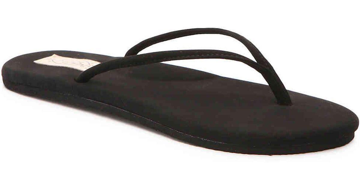4e06476bab1859 Lyst - Flojos Fiesta Flip Flop in Black
