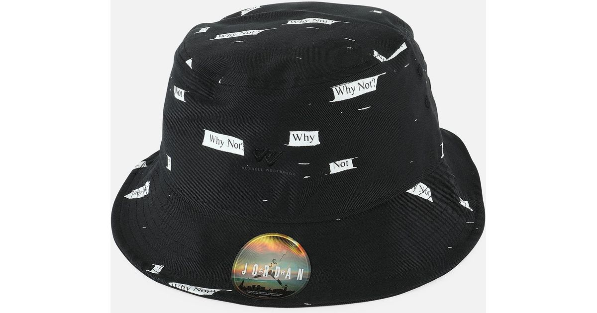 b4c76220 ... coupon code ireland lyst nike jsw russell westbrook why not bucket hat  in black for men czech mens air jordan fashion ...