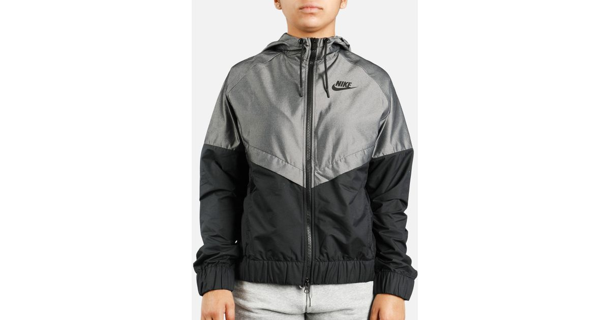 18f1999d386 Lyst - Nike Windrunner Chambray Jacket in Black