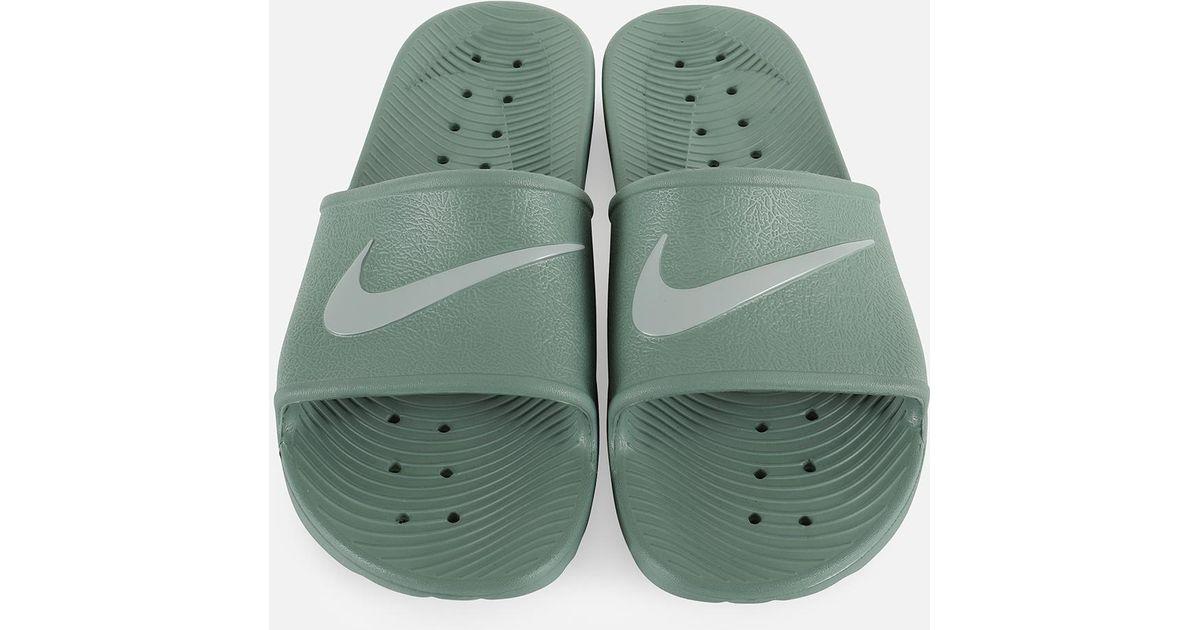 nike kawa shower marble men's slide sandals
