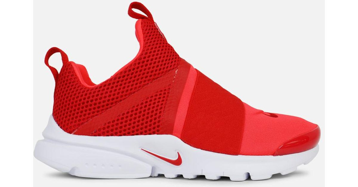 8b2b9411973 Lyst - Nike Presto Extreme Pre-school in Red