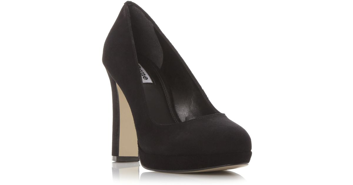 e74643700c3 Dune Aria Platform Court Shoes in Black