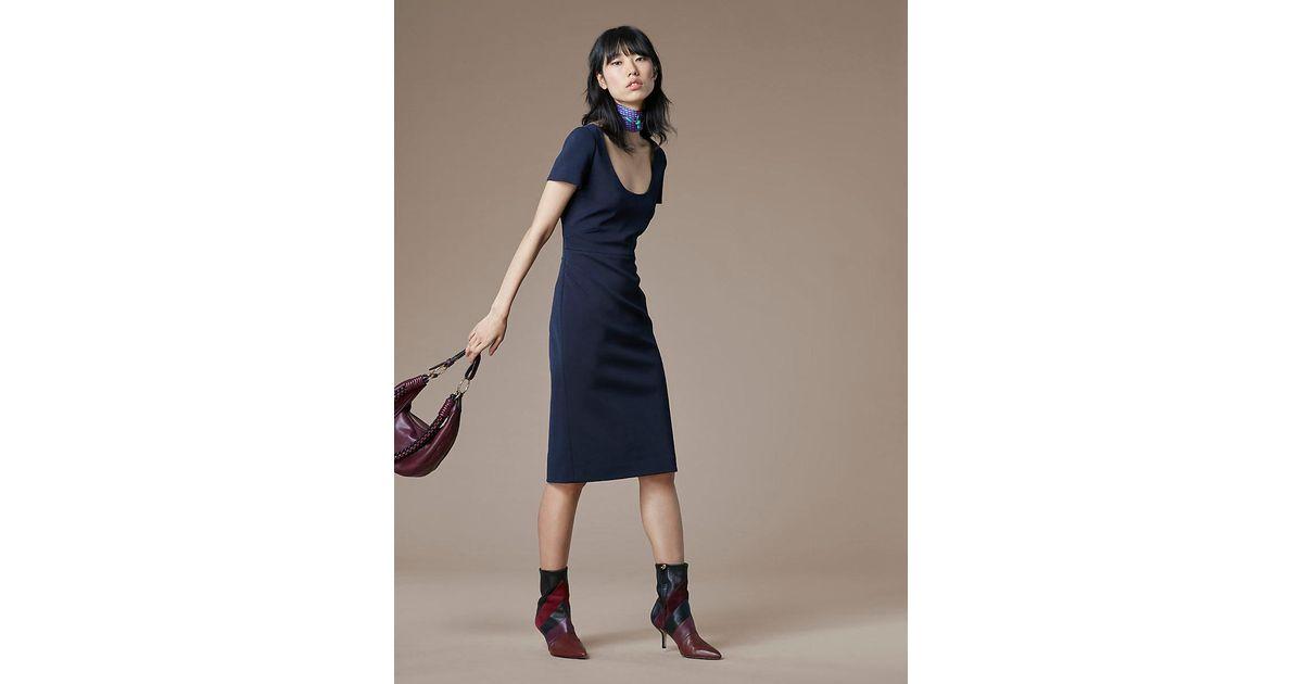 7f101f7f9d6 Diane von Furstenberg Scoop Neck Midi Dress in Blue - Lyst
