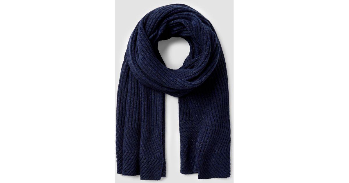 allsaints walkon scarf in blue lyst
