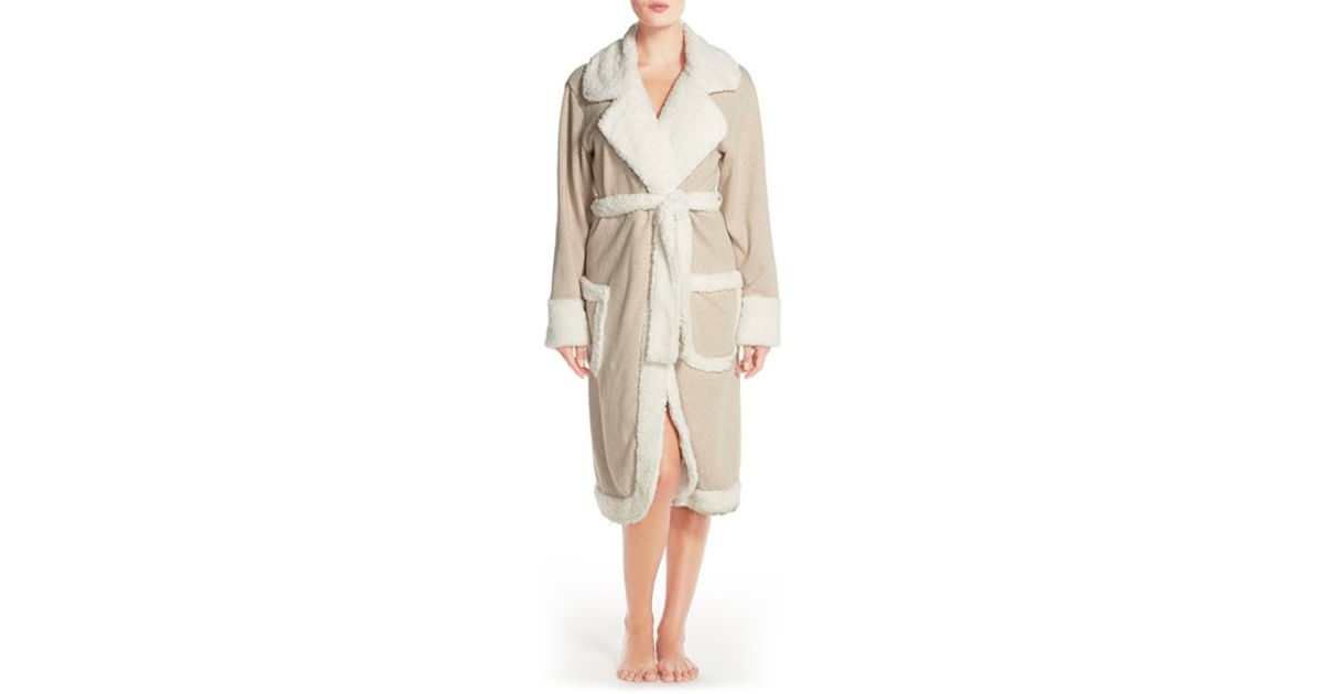 Lyst - UGG  duffield Deluxe  Robe in Natural 8fd041529