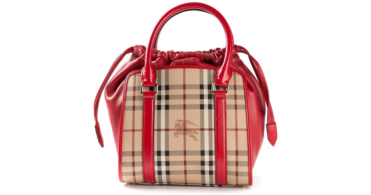 Lyst - Burberry Dinton Small Shoulder Bag in Red b7b1ab3feaef3