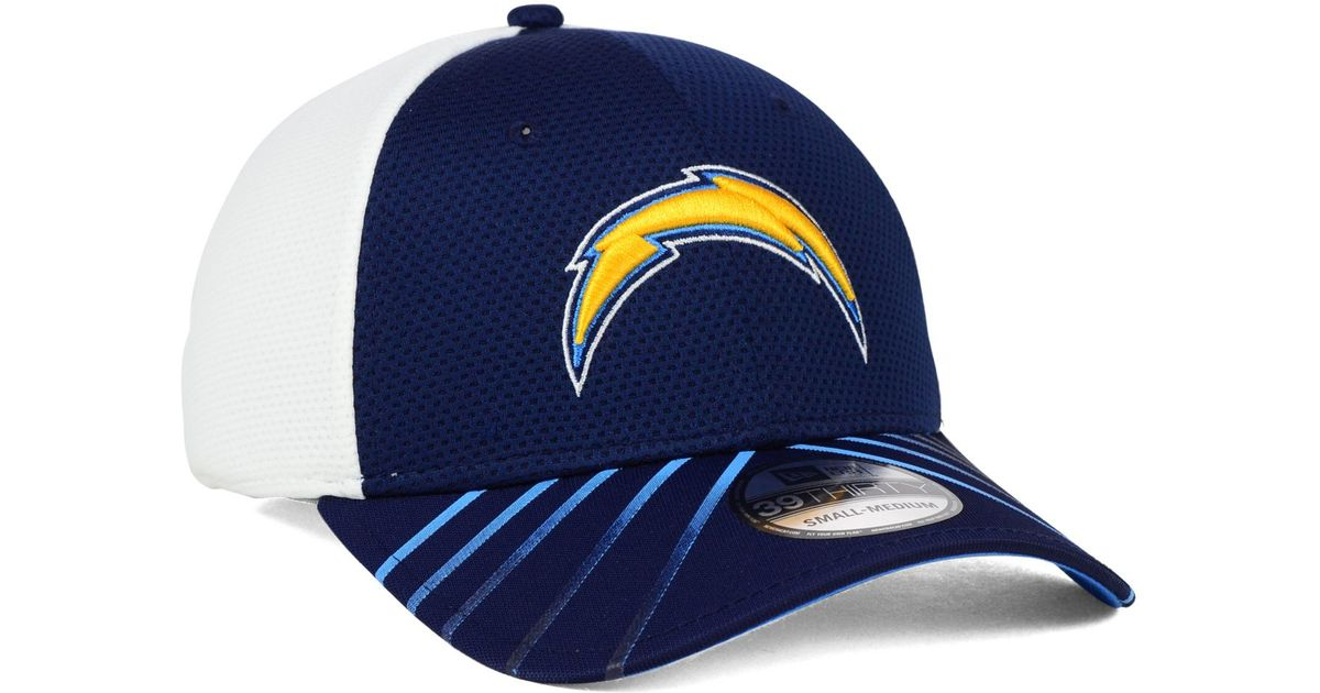 041e09107 KTZ San Diego Chargers Fade Back Mesh 39thirty Cap in Blue for Men - Lyst