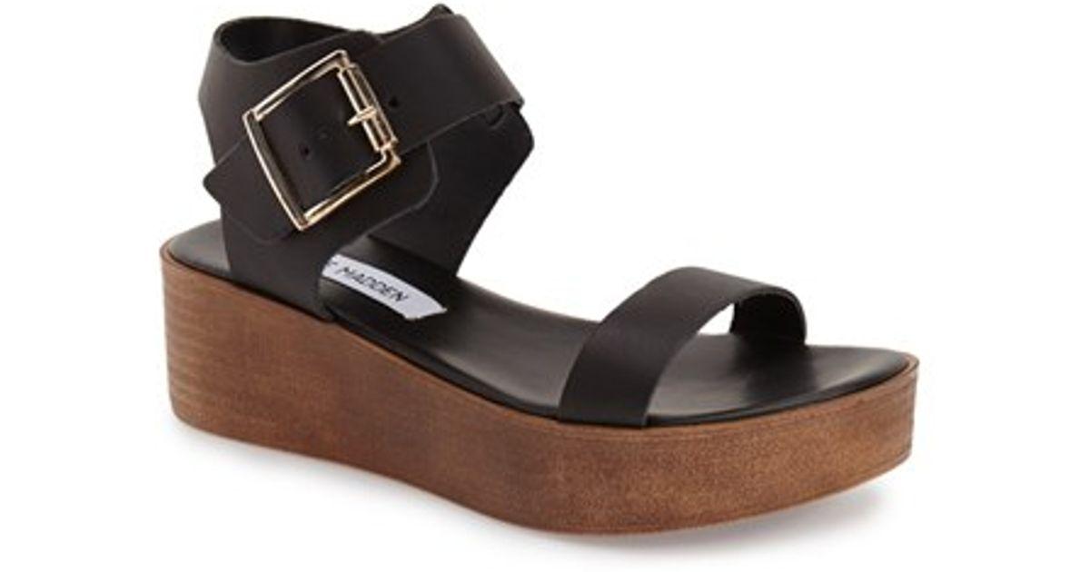Platform Steve Madden Madylynn Black Sandals zVMUqSp