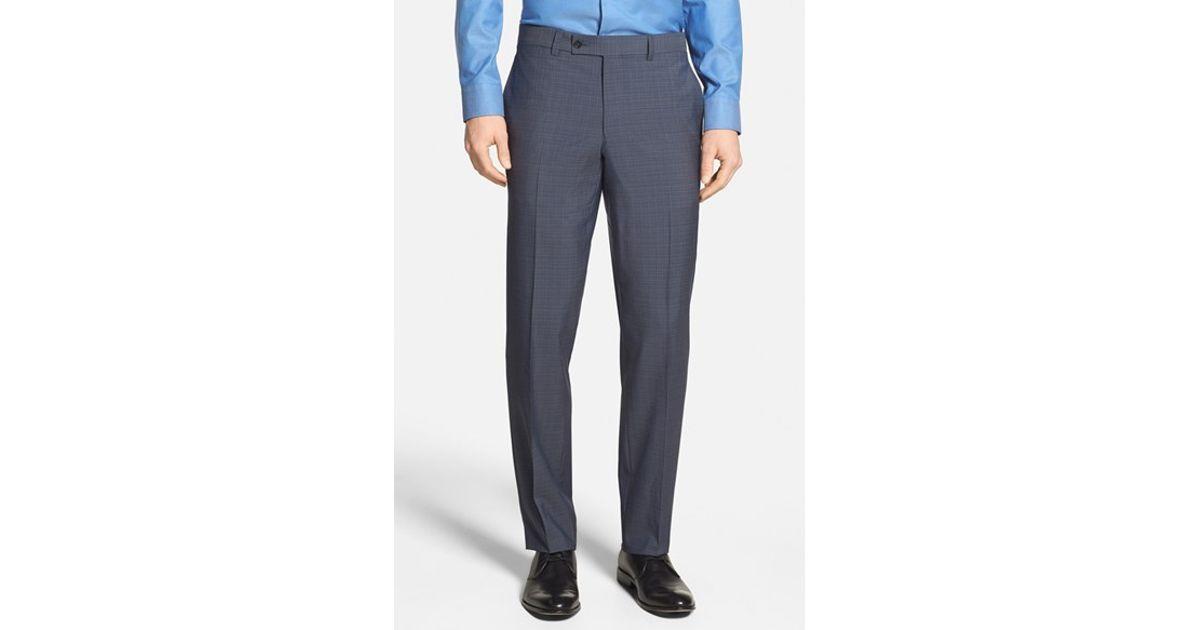 bbec5a686 Lyst - Ted Baker  jefferson  Flat Front Wool Trousers in Blue for Men