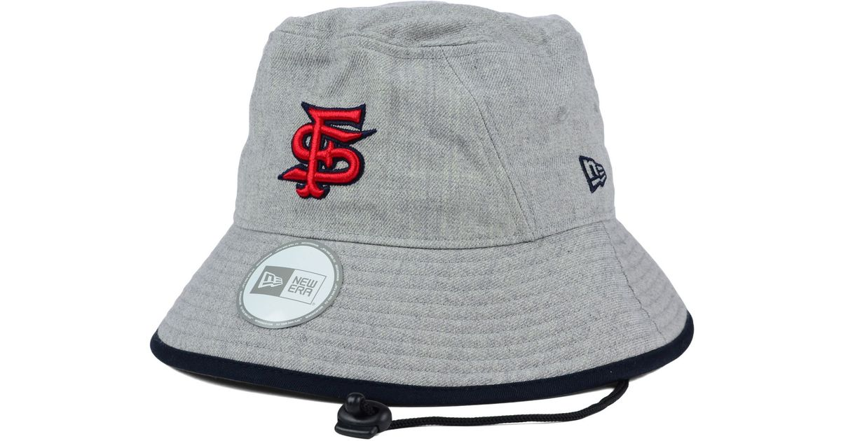 37f2694023f Lyst - KTZ Fresno State Bulldogs Tip Bucket Hat in Gray