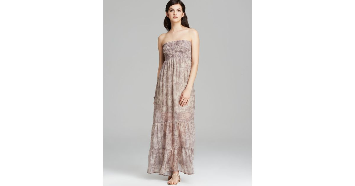8349417306a Guess Maxi Dress - Leopard Print Smocked Tube - Lyst