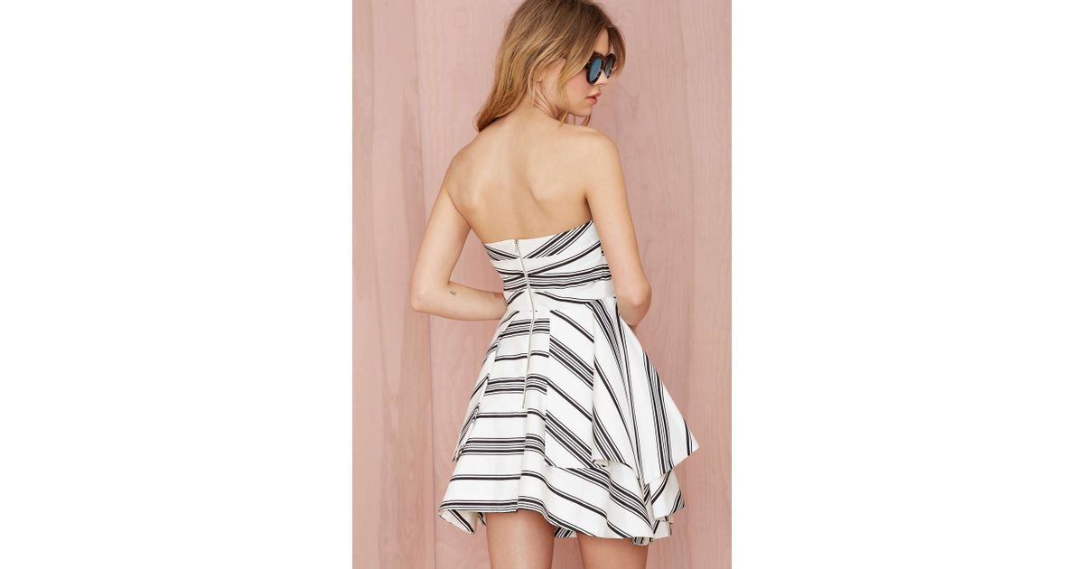05d2522add9d2 Lyst - Cameo Night Tale Striped Dress in White