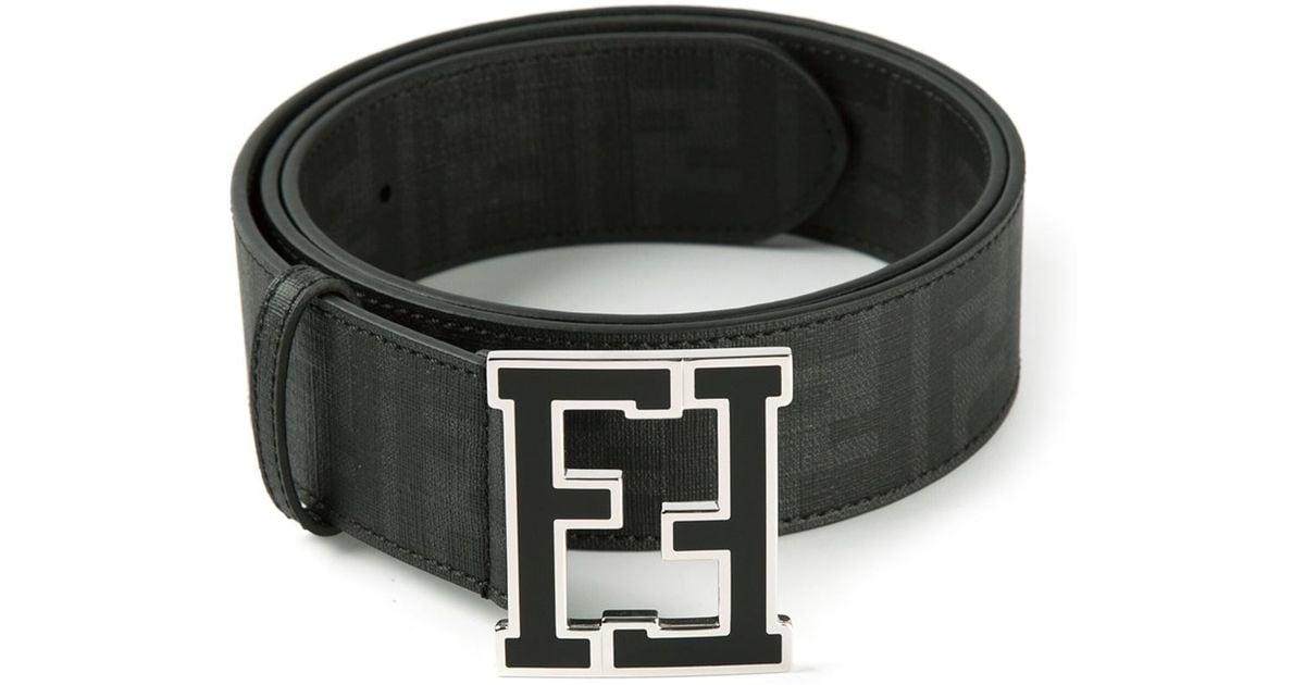 4ac07965679f ... coupon code lyst fendi zucca belt in black for men e7dea 8feb0