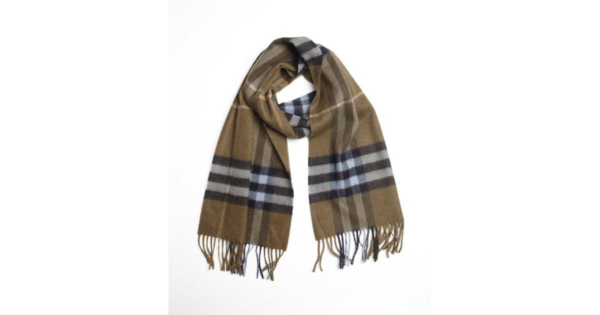 e3188eeefcdd ... low price lyst burberry tan cashmere nova check scarf in natural for  men 8ef41 e7666