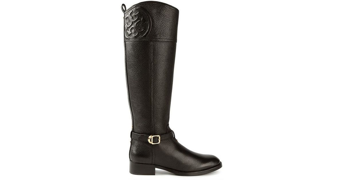 ff01738ae22 Lyst - Tory Burch Marlene Riding Boot in Black