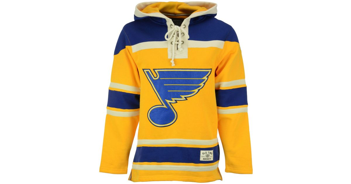 Lyst - Old Time Hockey Men s St. Louis Blues Alternate Lacer Jersey Hoodie  in Yellow for Men 893ef1f02d5