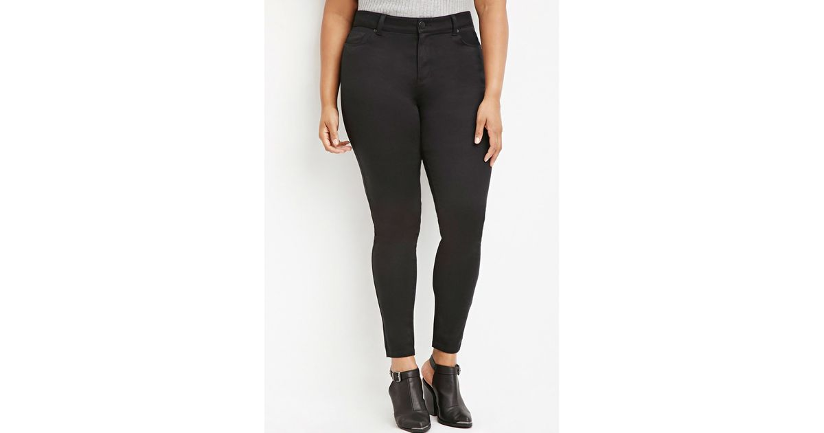 532244be244 Forever 21 Plus Size Classic Skinny Jeans in Black - Lyst
